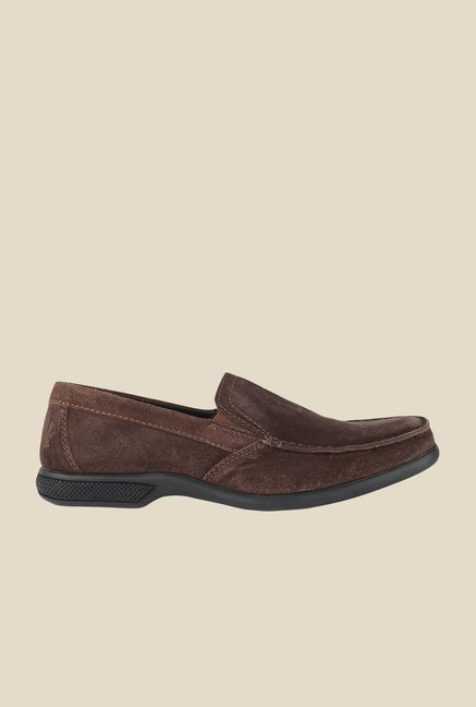 Salt 'n' Pepper Askme Brown Slip-Ons