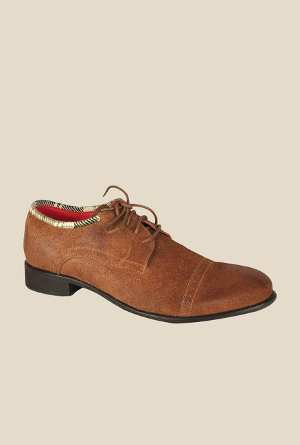 Salt 'n' Pepper Campari Brown Derby Shoes