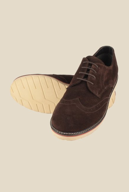 Salt 'n' Pepper Direction Brown Derby Shoes