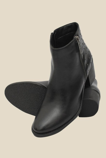 Salt 'n' Pepper Elle Black Booties