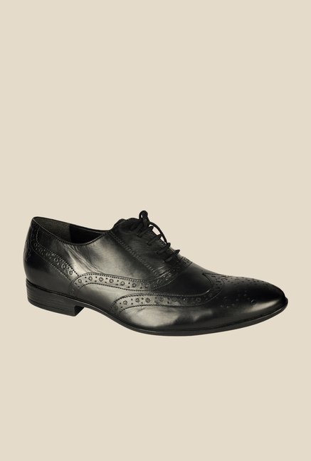 Salt 'n' Pepper Koop Black Oxford Shoes