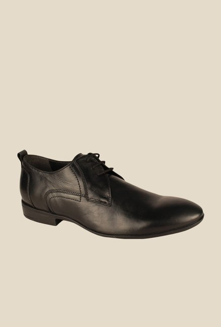 Salt 'n' Pepper Koop Black Derby Shoes