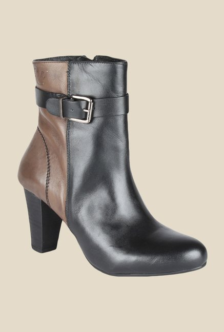 Salt 'n' Pepper Fancy Black & Brown Booties