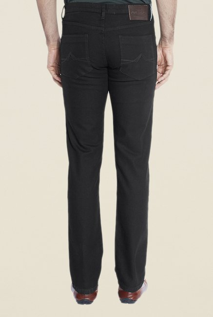 Park Avenue Black Raw Denim Jeans