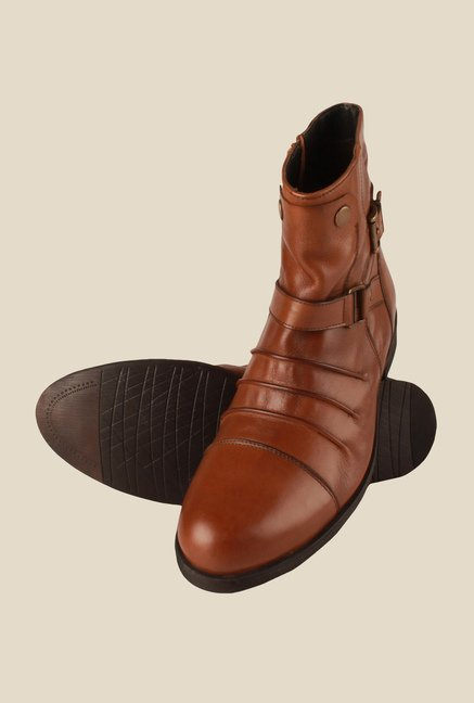 Salt 'n' Pepper Old Monk Tan Casual Boots