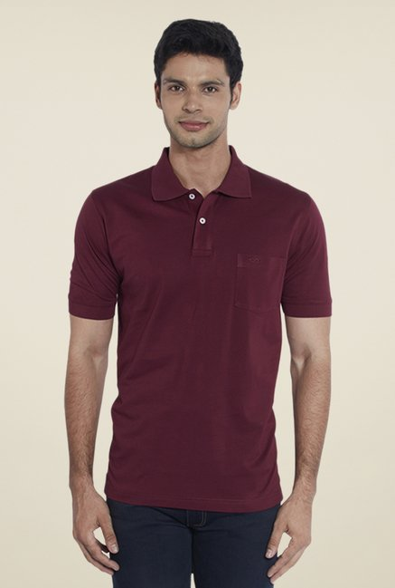 ColorPlus Maroon Solid T Shirt