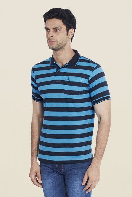 Parx Blue Striped T Shirt
