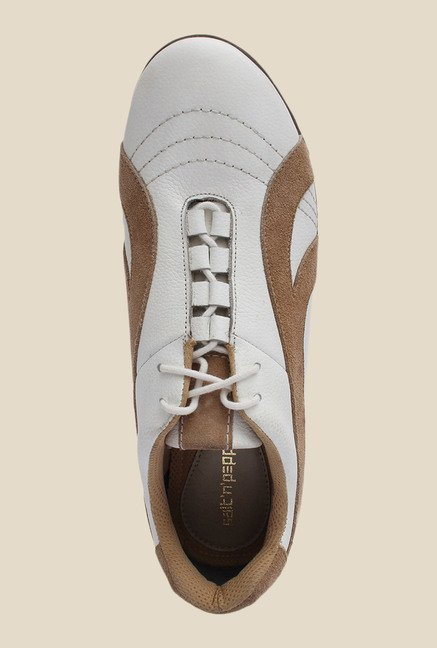 Salt 'n' Pepper Stain White & Brown Casual Shoes