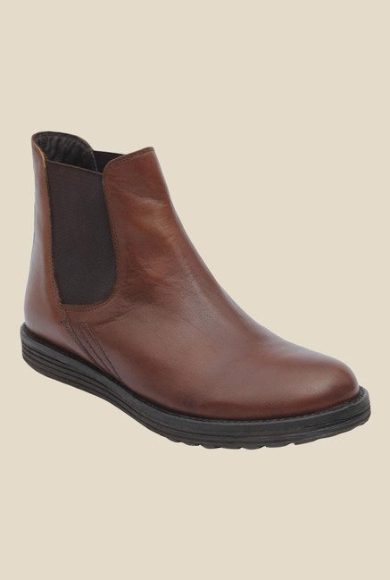 Salt 'n' Pepper Cica Brown Chelsea Boots