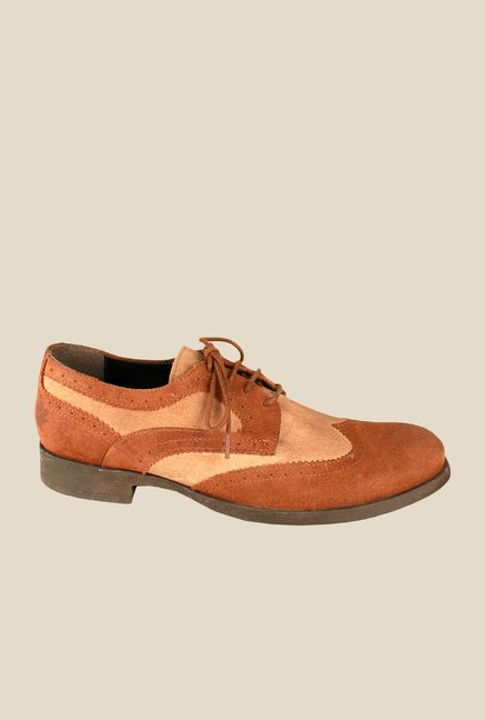 Salt 'n' Pepper Old Monk Taupe & Beige Derby Shoes