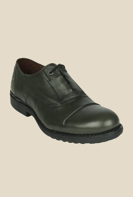Salt 'n' Pepper Surpunch Green Oxford Shoes