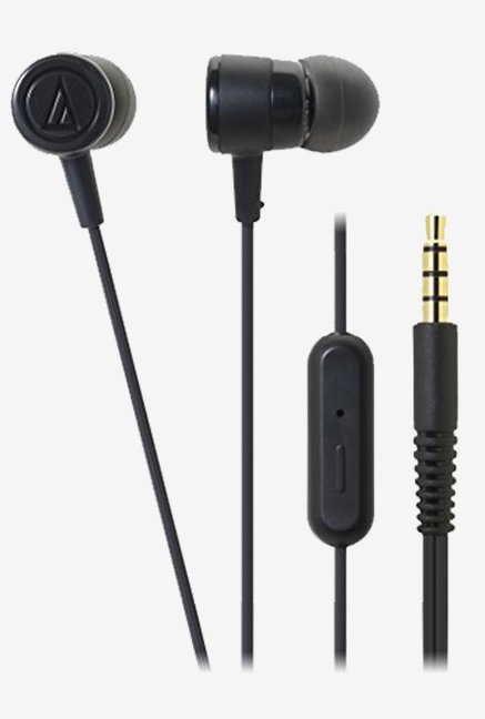Audio Technica ATH-CKL220iS Inner-Ear Headphones (Black)