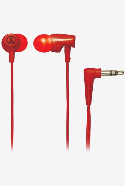 Audio Technica ATH-CLR100 In-Ear Headphones (Red)
