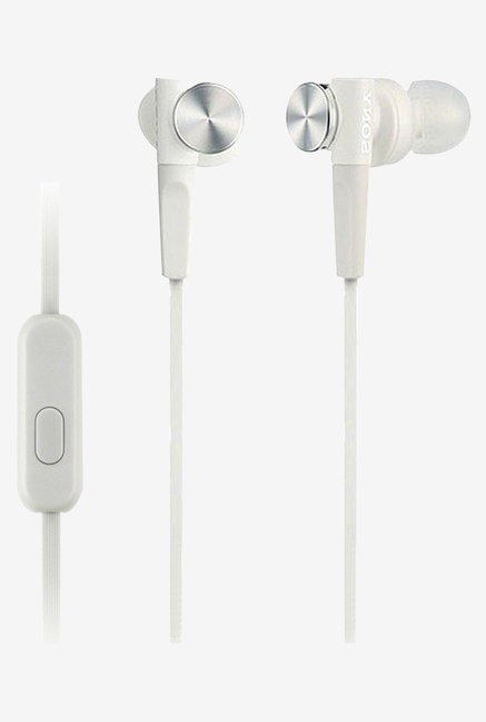 Sony MDR-XB50AP In the Ear Headphones (White)