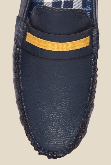 DaMochi Tomas Navy & Yellow Loafers