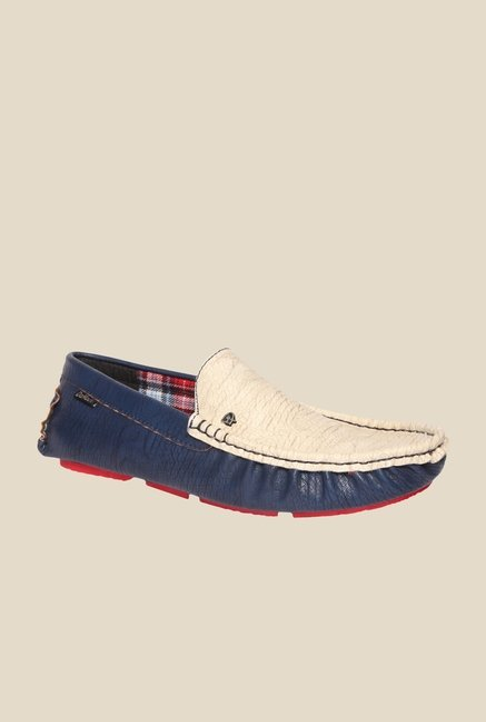 DaMochi Cannon Navy & Beige Loafers