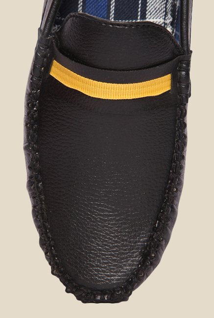 DaMochi Tomas Black & Yellow Loafers