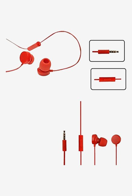 In the Ear Earbud WH 208  Mini Size Headset ( Red)
