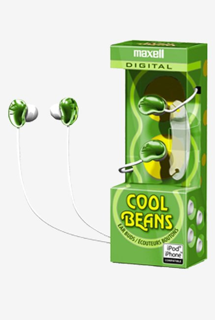 Maxell 190251 In the Ear Earphones (Green)