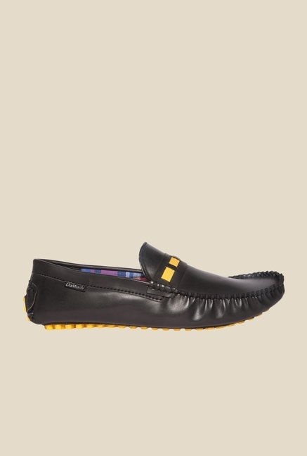 DaMochi Jaylin Black & Yellow Loafers