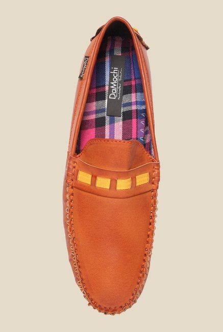 DaMochi Jaylin Tan & Yellow Loafers