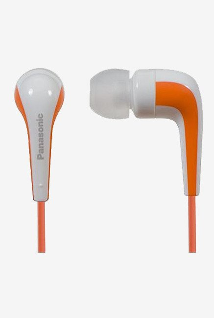 Panasonic RP-HJE140E-D In-Ear Headphone (Orange)
