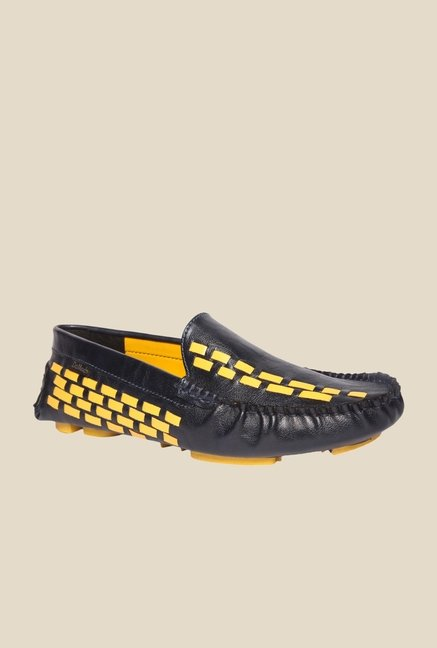DaMochi Alex Navy & Yellow Loafers