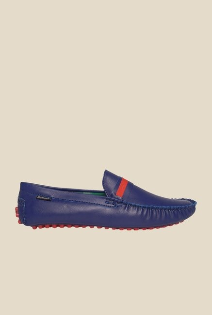 DaMochi Tomas Blue & Red Loafers