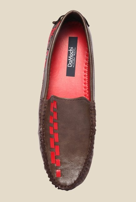 DaMochi Alex Brown & Red Loafers