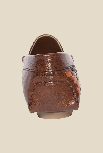DaMochi Alex Brown & Tan Loafers