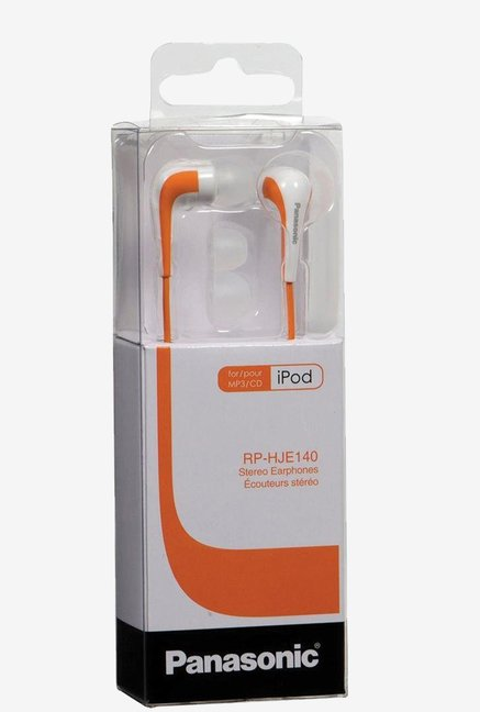 Panasonic RPHJE140D L Shape In Ear Earbud (Orange)