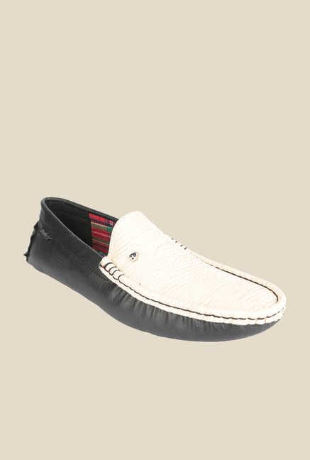 DaMochi Cannon Black & Beige Loafers