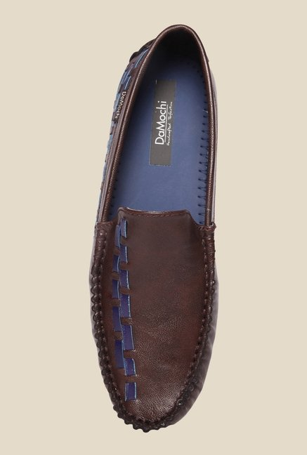 DaMochi Alex Brown & Blue Loafers