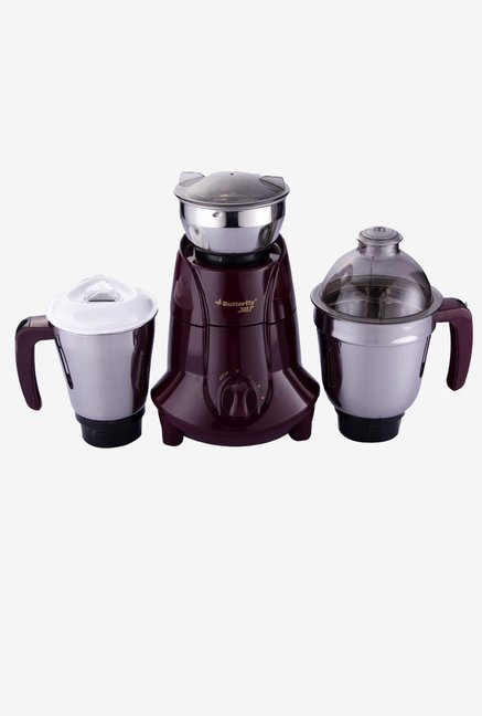 Butterfly Jet Mixer Grinder with 3 Jars 750-Watt (Cherry)