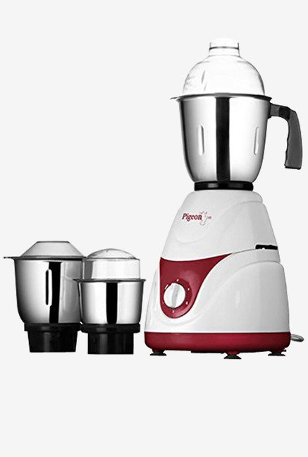 Pigeon TRUMIX 550-Watt Mixer Grinder with 3 jars (White)