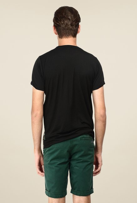 Basics Black Graphic Print Crew T-shirt