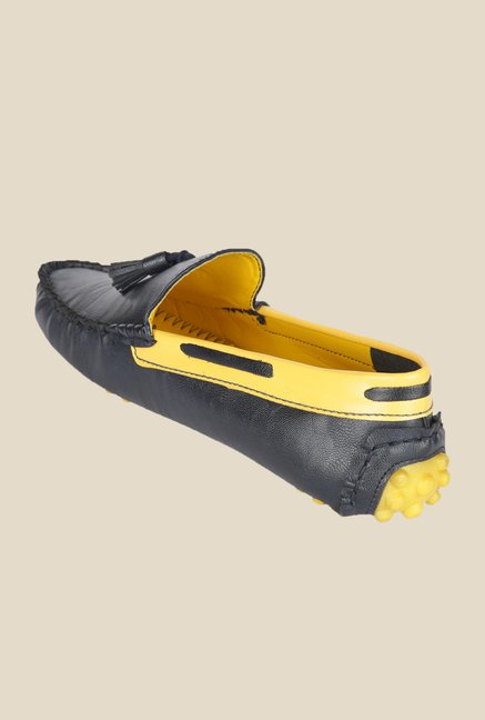 Wega Life Grast Black & Yellow Loafers