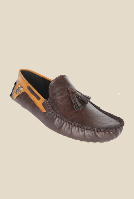 Wega Life Grast Brown & Yellow Loafers