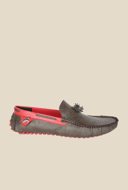 Wega Life Grast Brown & Red Loafers