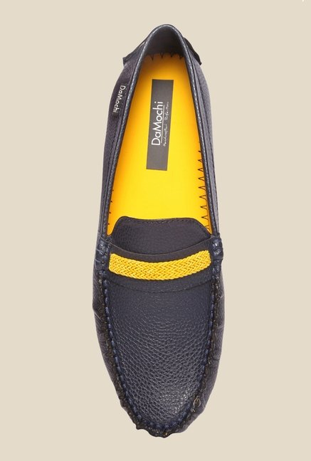DaMochi Cesar Navy & Yellow Loafers