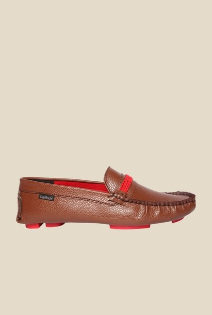 DaMochi Cesar Brown & Red Loafers