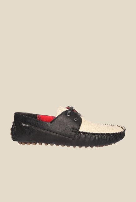 DaMochi Sawyer Black & Beige Loafers