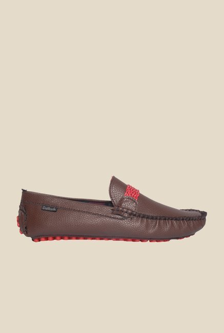 DaMochi Eugene Brown & Red Loafers