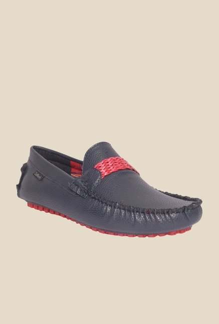 DaMochi Eugene Navy & Red Loafers