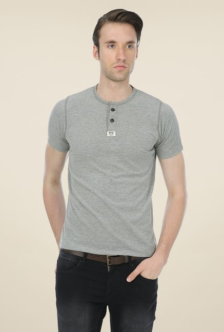 Basics Grey Solid T-shirt