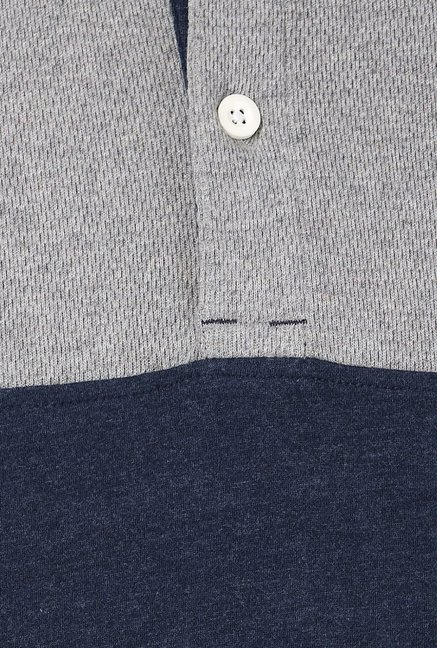 Basics Navy Solid Polo T-shirt