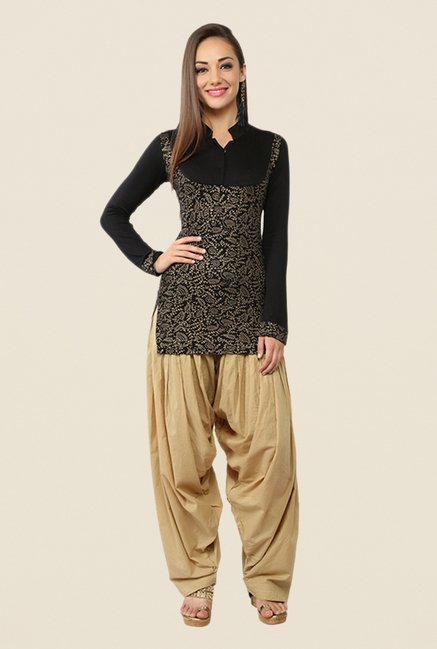 Ira Soleil Black Full Sleeves Printed Kurti