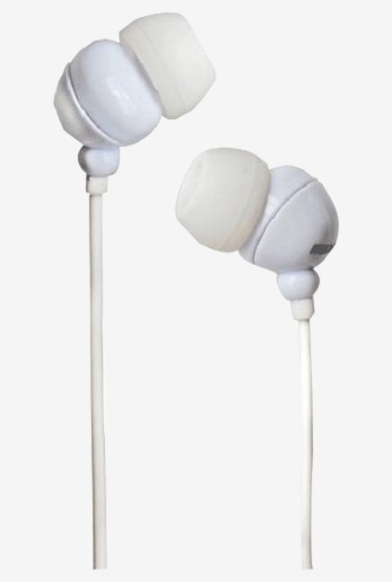 Maxell 303438.00.CN Plugz In The Ear Earphone (White)