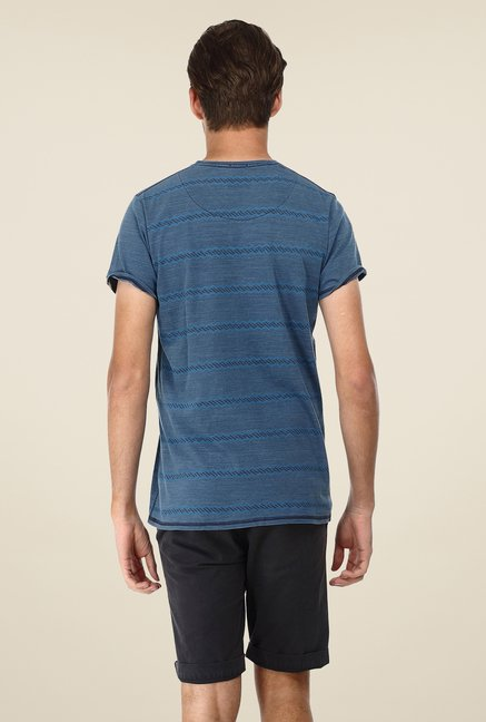 Basics Blue Striped T-shirt