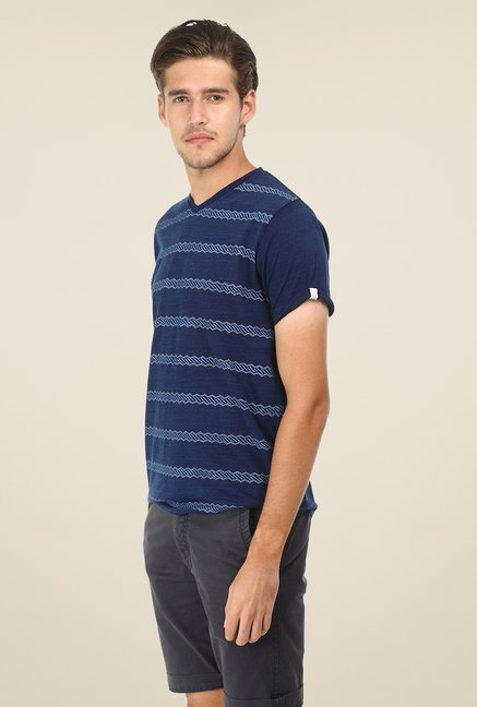 Basics Navy Striped T-shirt